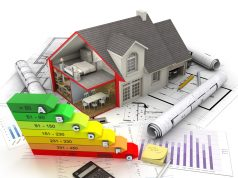 energy efficiency charts and blueprints