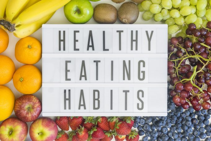 Healthy eating habits with fruit