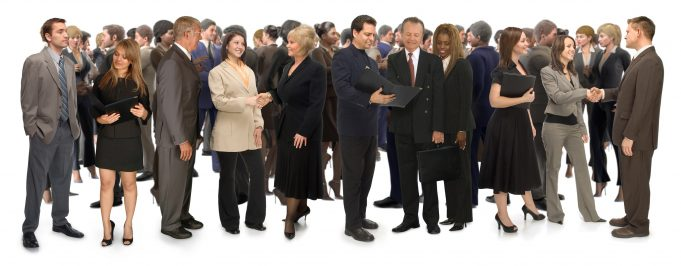 networking Professionals on White