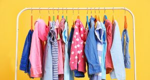 clothes-hanging-on-rack-closeup prints