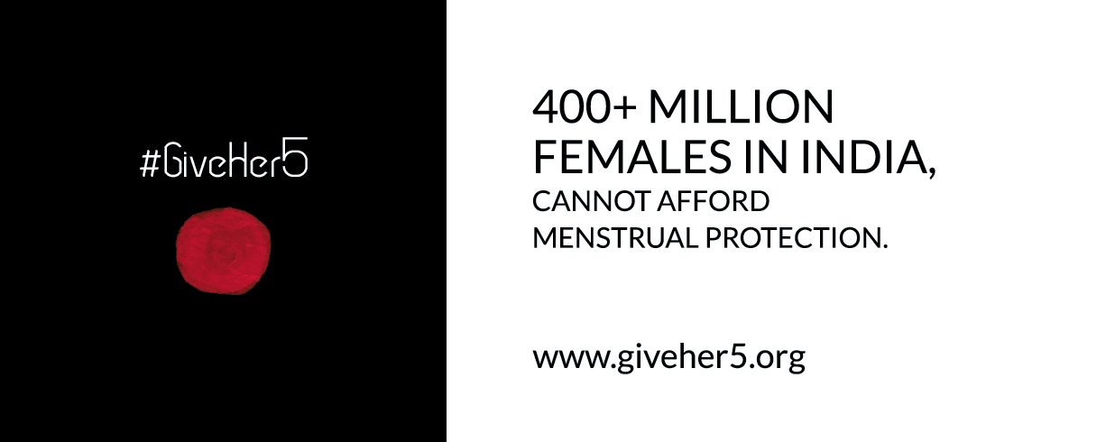 give-her-5 sanitary napkins
