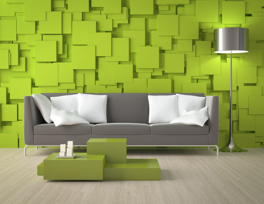 interior-design-modern-room-green-wall