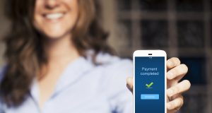 payment-completed-message-on-mobile-phone mobile