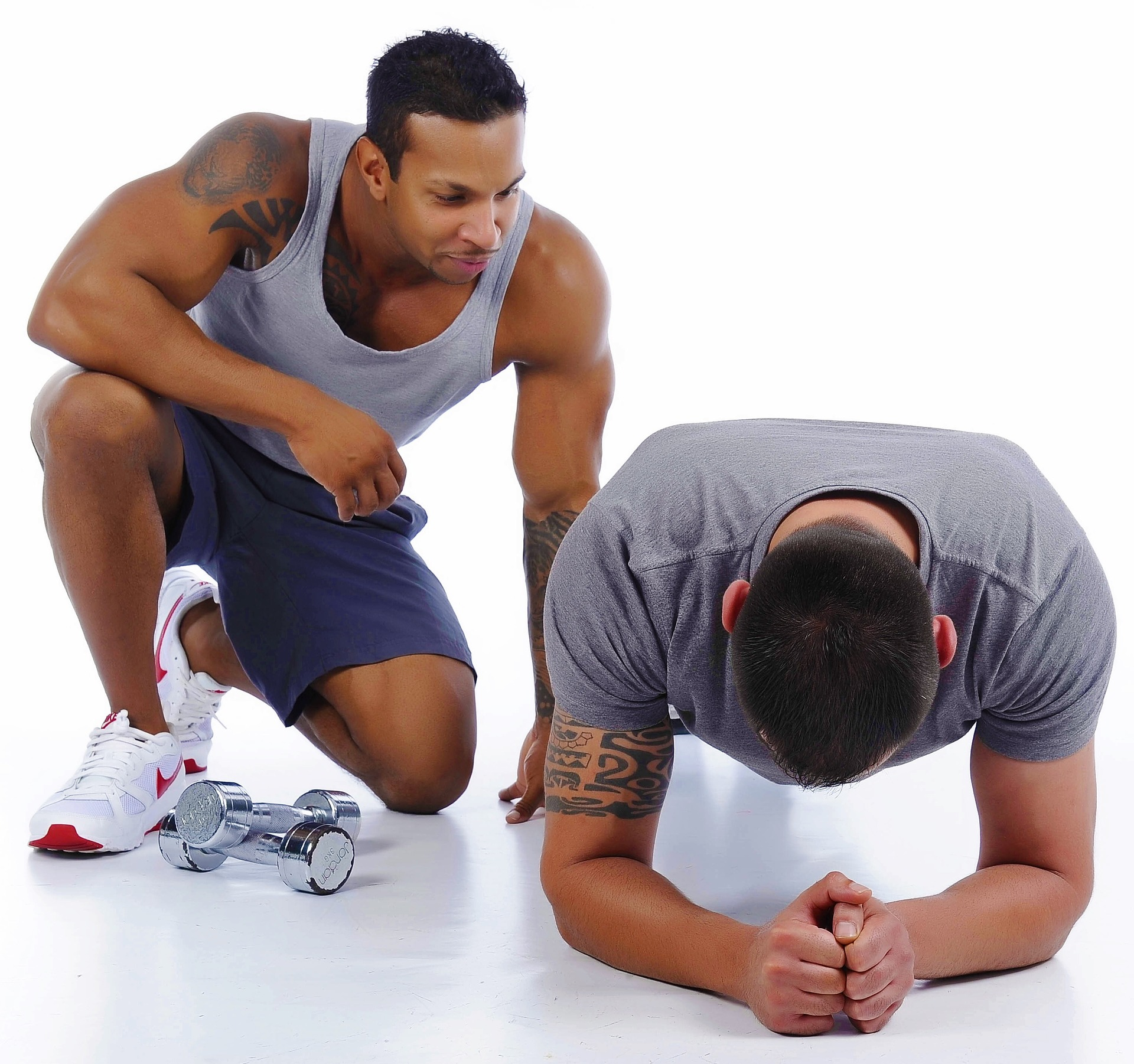 A personal trainer keeps you motivated.