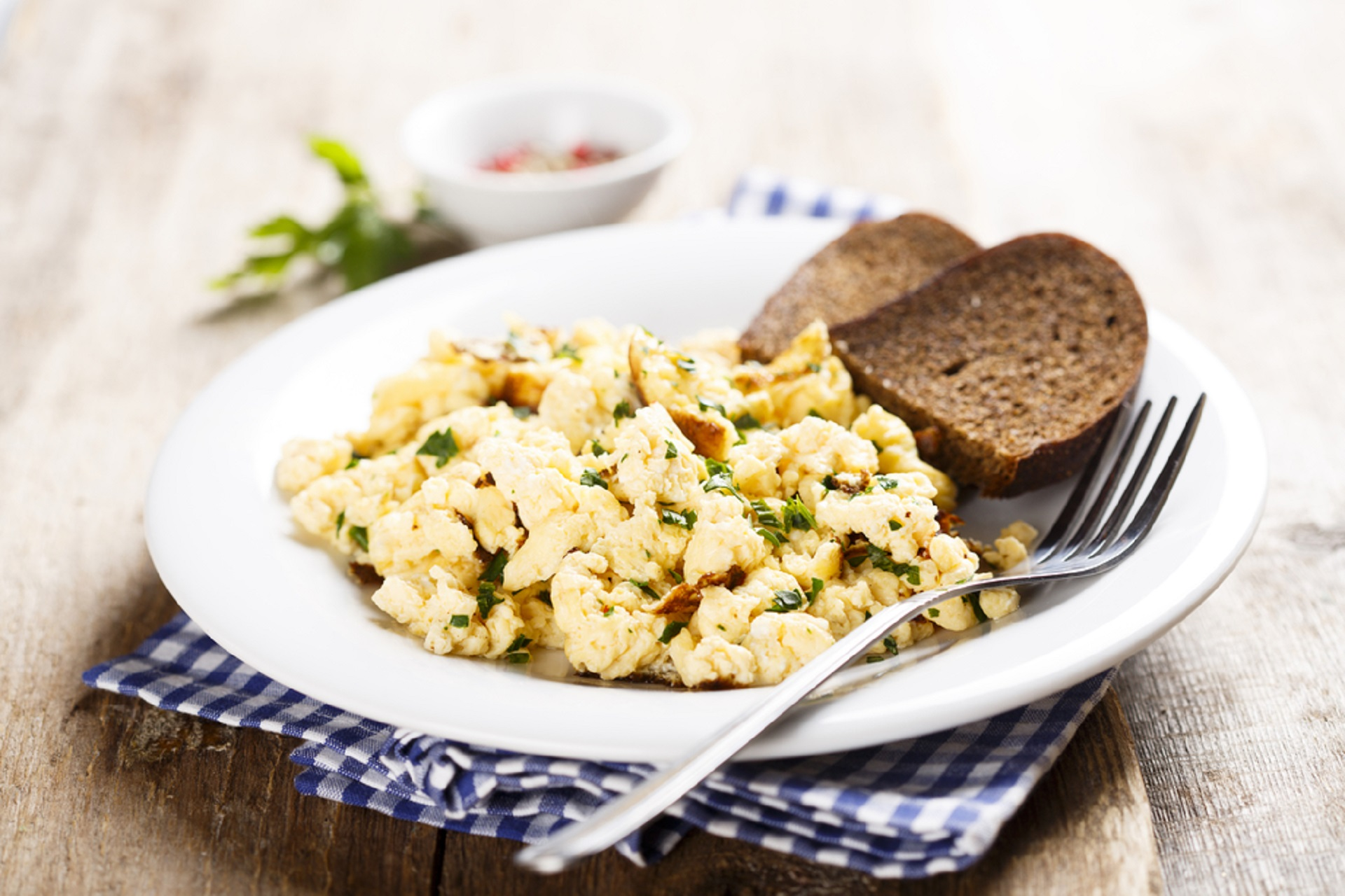 Spicy scrambled eggs.