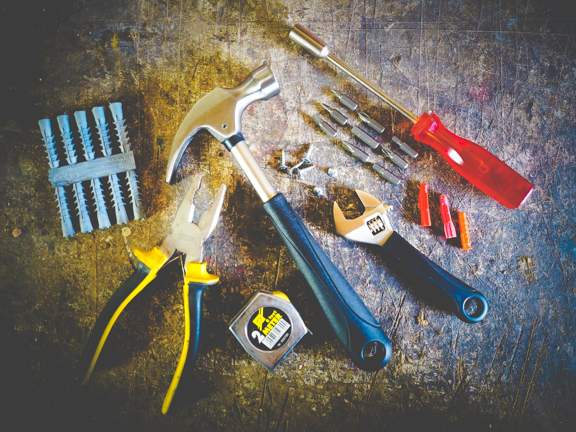 Investing in a tool kit is a household hack.