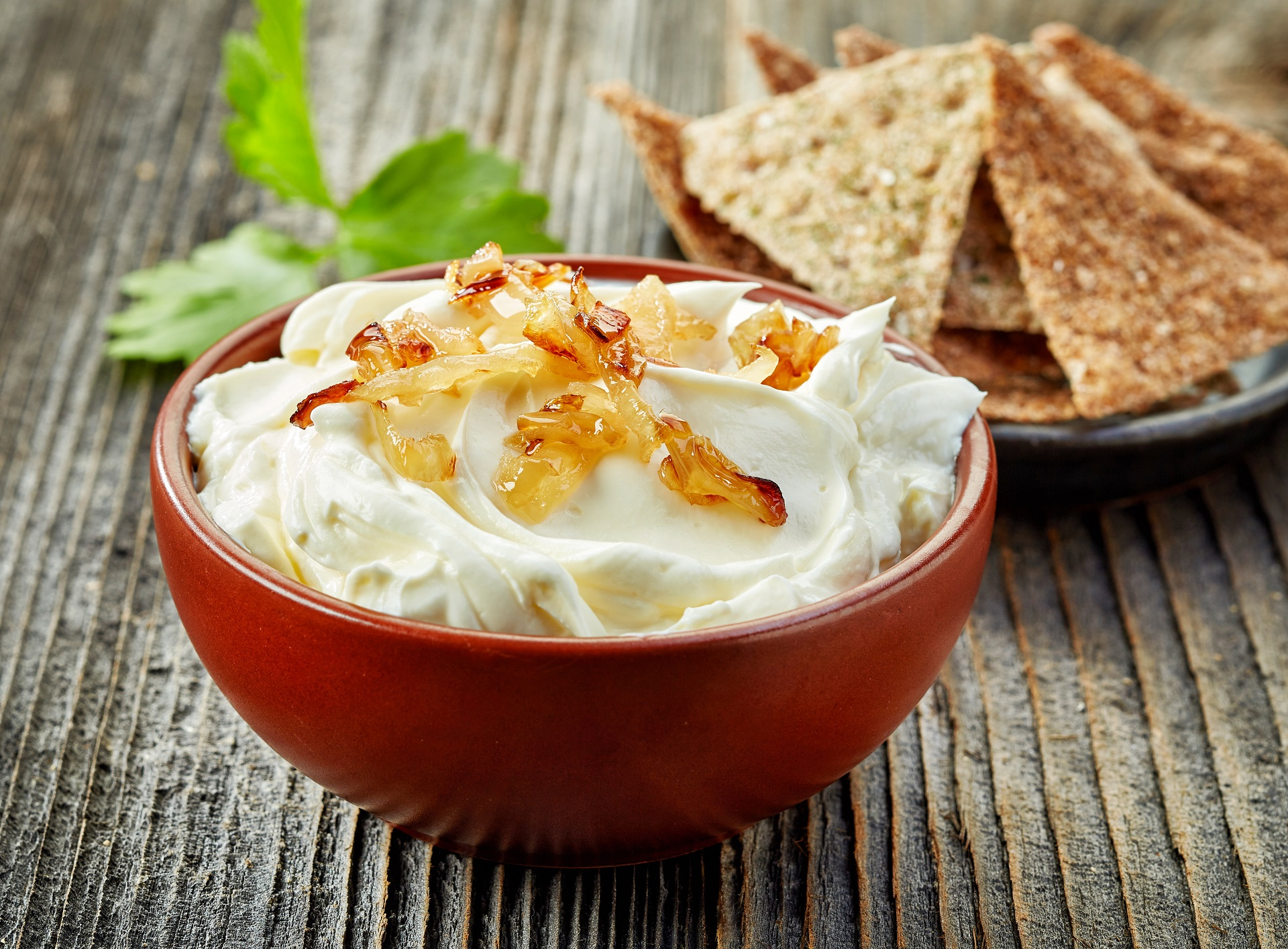 Bacon and caramelized onion dip recipe.