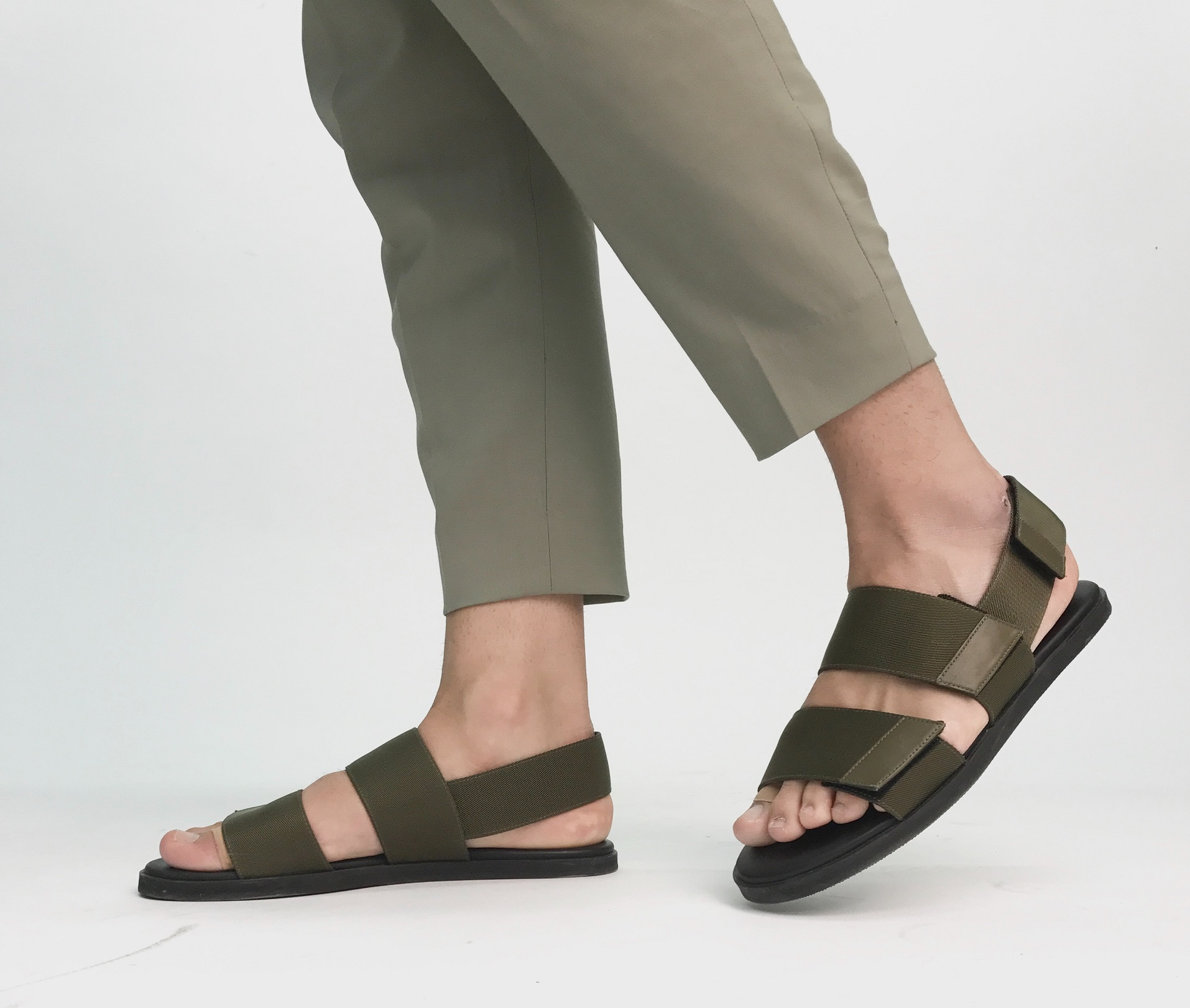 Sandals are a good option for men.