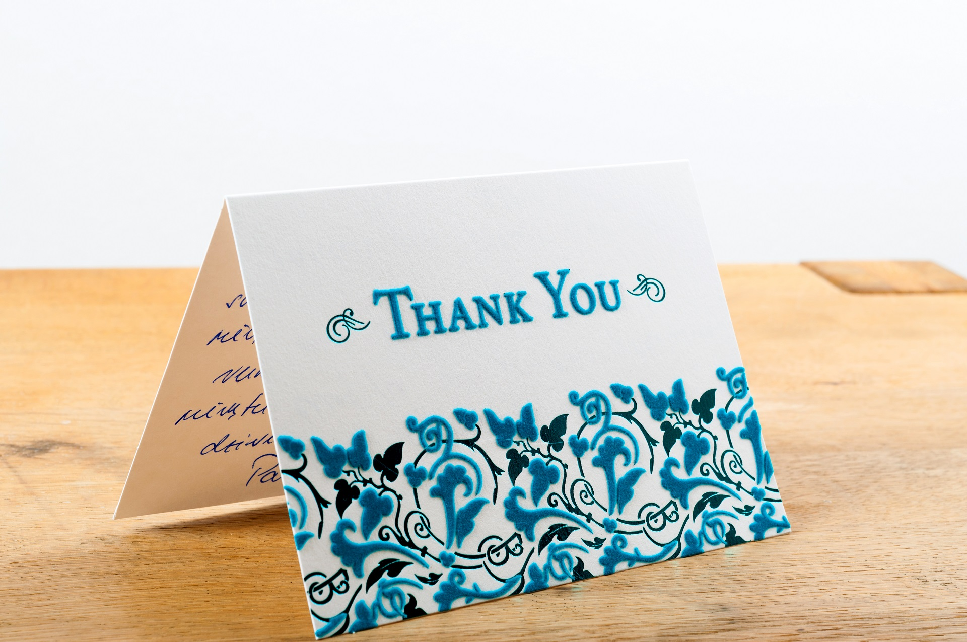 Add a thank-you note