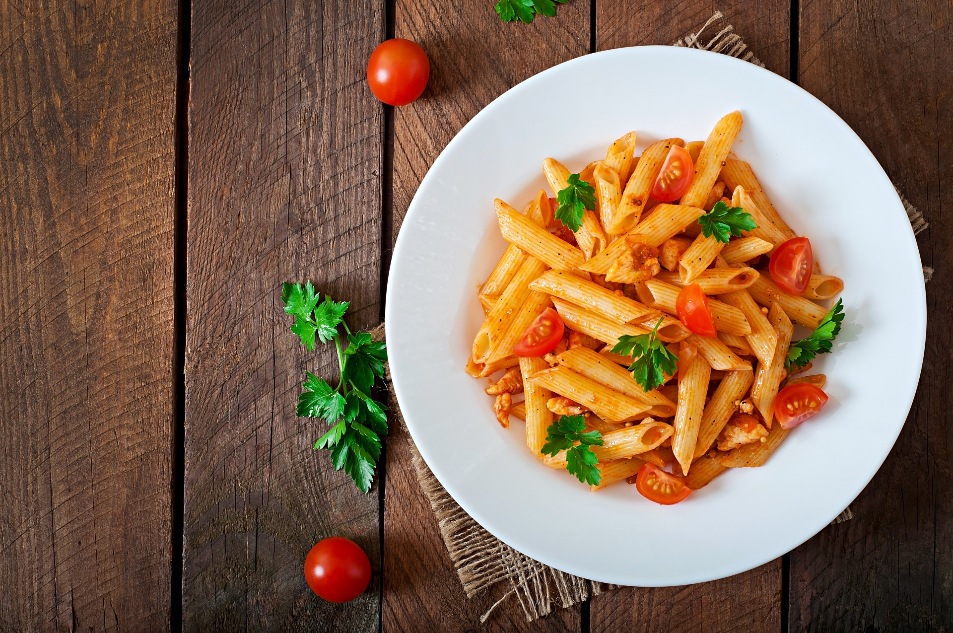 Penne is a type of pasta.