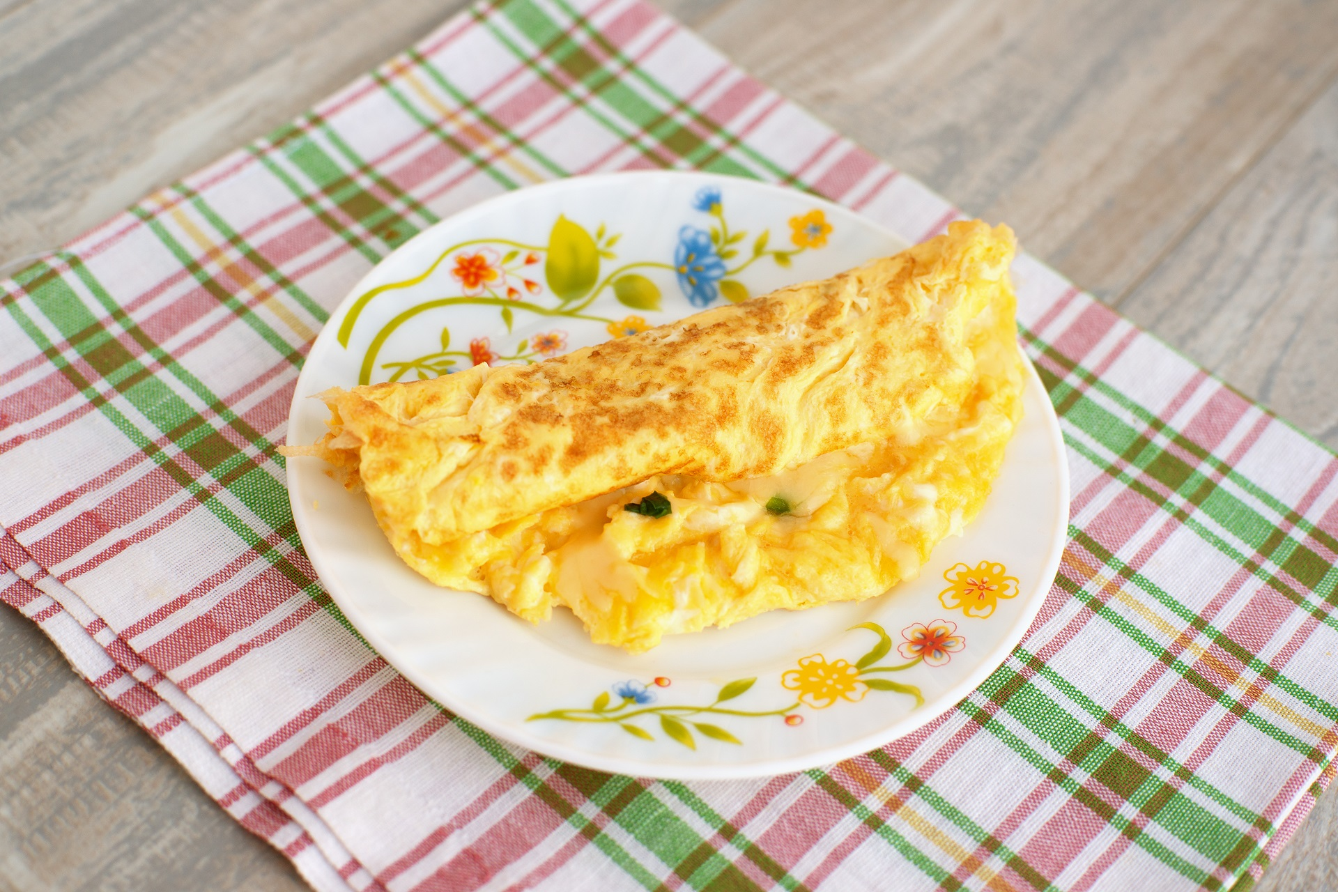 Three cheese omelet recipe.