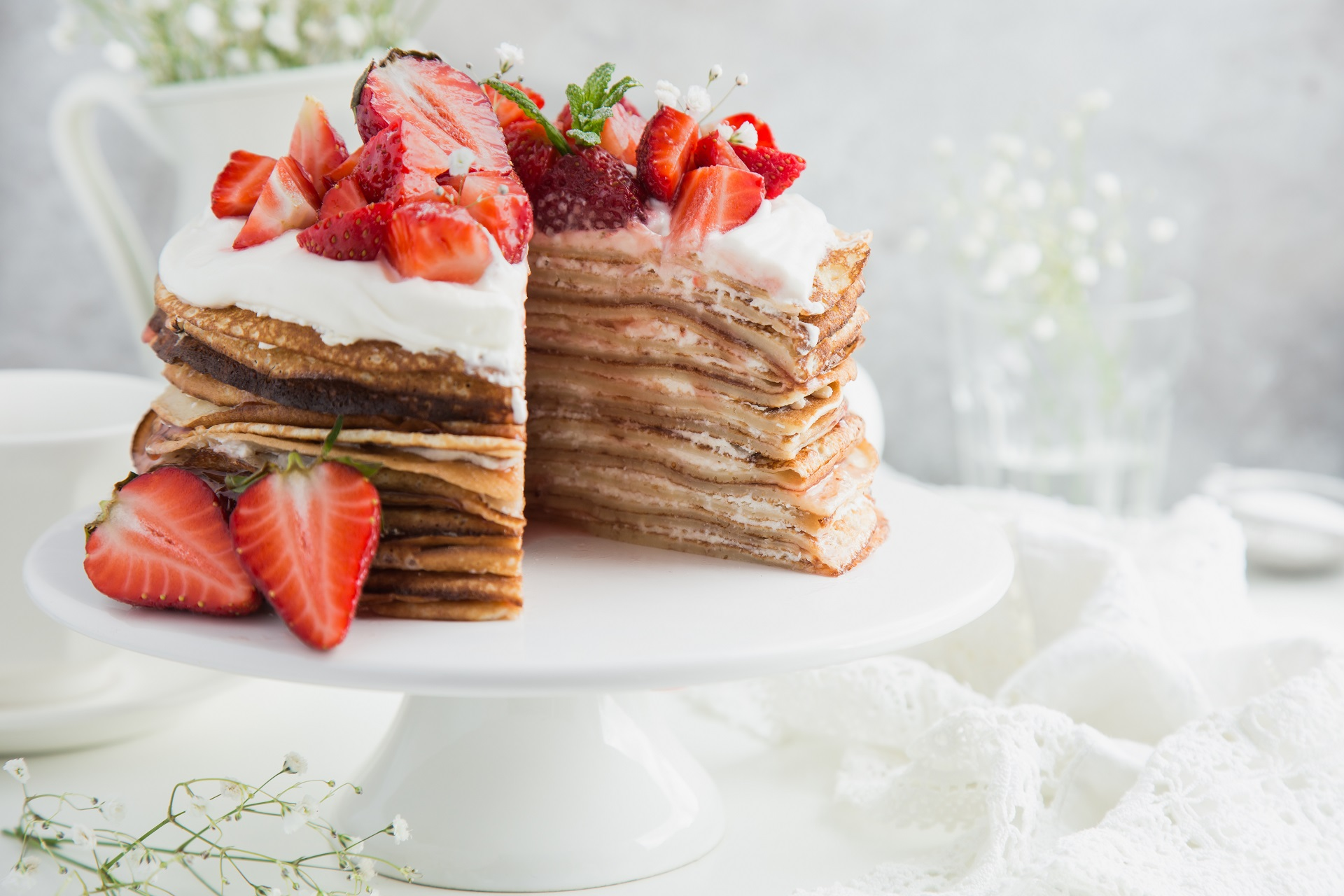 Crepe tortes instead of traditional birthday cakes.