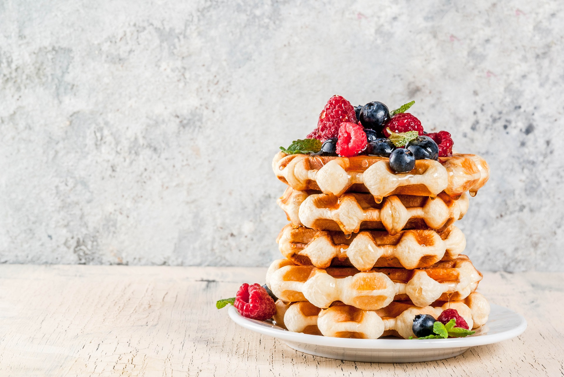 Waffle stack to replace the traditional birthday cake.